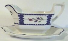 "Adams ""Lancaster""  Gravy Boat with Attached Under Plate EC"