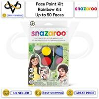 Snazaroo Children's Face Paint Make Up Kits Rainbow Kit Up to 50 Faces