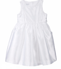 NWT! Sz: 6X White Bella By Marmellata Bow Back Flower Girl Dress  #25