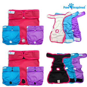 Paw Inspired Reusable Washable Dog Diapers | Female Diapers for Dog Heat XS-XL