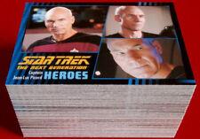 STAR TREK THE NEXT GENERATION - Heroes & Villains - Complete Base Set, 100 cards