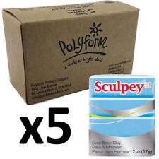 Sculpey III Polymer Clay - Light BLUE PEARL - Box of 5 x 57g - Just $3.30/Block