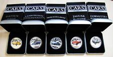 Scarce! 2006 Tuvalu $1 (5 coins) CLASSIC CARS Full Set Silver Proof (5 oz .999)