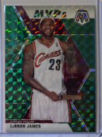2019-20 Panini Mosaic GREEN PRIZM MVPs Lebron James #298- Fresh