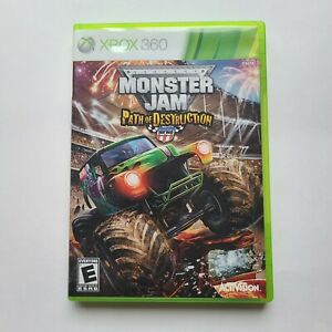 Monster Jam Path of Destruction Xbox 360 case & manual only, no game disc