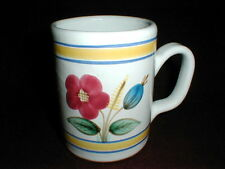 Italian Pottery Terra Cotta/Terracotta Hand Painted Floral Coffee Mug/Cup