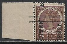 Neth Indies 1908 NVPH 90fb ovpt ERROR SHIFTED ovpt  MLH