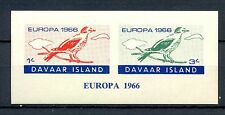 GB LOCAL DAVAAR  ISLAND  1 BLOCK IMPERF.   1966  EUROPA    **  MNH VF