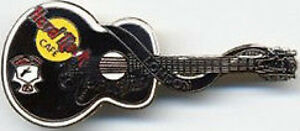 Hard Rock Cafe LONDON 1998 ELVIS PRESLEY Black GUITAR PIN Dead Rocker HRC #4877
