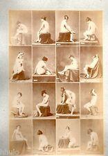 C27 Calavas photo étude pour peintre vintage albumen print albuminé nus Femme
