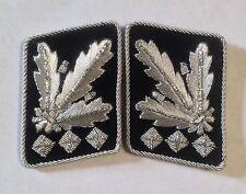 German Army Waffen elite  Oberstgruppenfuhrer Collar Tabs ON Black background