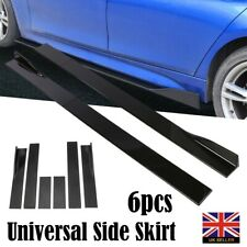 "2M Universal Side Skirts Extension Rocker Panel Splitter Lip Polypropylene 78.7"""