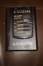Vintage Sharp Corp JC-518(BK) AM/FM Stereo Cassette Player Walkman DC 3v 2AA