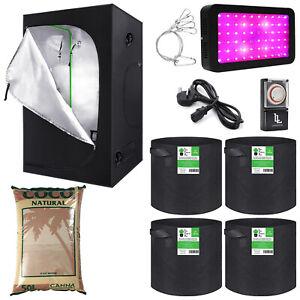 Hydroponics Complete Grow Tent Kit 600w LED Light Grow Tent Kit FREE TIMER