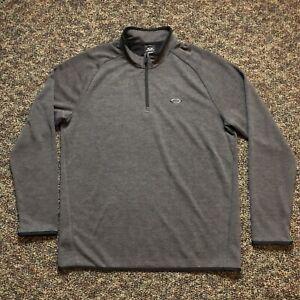 Oakley Mens 1/4 Zip Pullover Jacket Sz Medium Gray