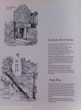 Vintage Original Cedric Emanuel Print 1970- The Rocks & Hicksons Steps