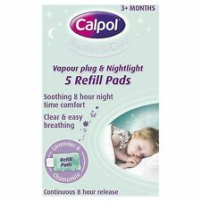 2 X CALPOL Vapour Plug & Nightlight 5 Refill Pads