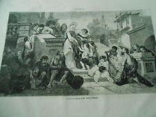 Gravure 1861 - La Charité d'après tableau de Célestin Nanteuil