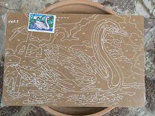 NUOVO Tavoletta legno compensato prestampata hobby mod cigno