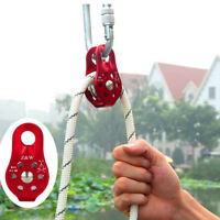 Single Fixed Pulley Mountaineering Rope Climbing Rappelling Survival Equipment
