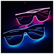 Funky Shades Glasses Sunglasses Neon Ray Flashing Light Ban Many Colours!