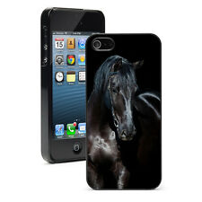 For Apple iPhone X SE 5 5S 6 6s 7 8 Plus Hard Case Cover 1238 Dark Brown Horse