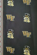 Fabric:  WAKE FOREST DEACONS 100% COTTON FABRIC By TRENDY FASHIONS Half Yard