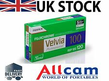 5 Pack: Fuji Velvia 100 Size 120 ISO 100 RVP Color Slide Film, New