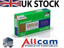 5 Stück: Fuji Velvia 100 Größe 120 ISO 100 RVP Farbe Gleit Film, NEU