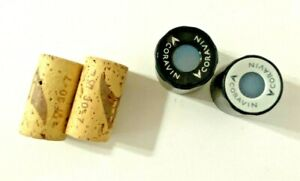 Lot of 4 Coravin Wine Preservation System Screw Caps and Corks - New Old Stock