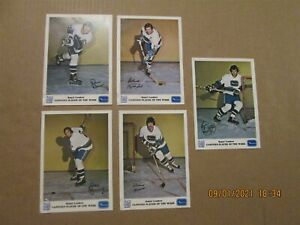 NHL Vancouver Canucks Vintage 1973 Lot of 5 Royal Leaders 7x5 Player Photos