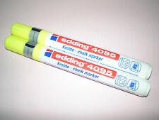2x Edding 4095 window marker gelb 2-3 mm Kreidemarker chalk f. Fenster NEU