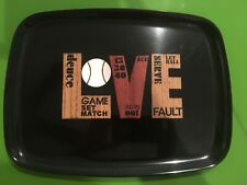 """Couroc Love tray. Excellent condition 14"""" x 11"""" Made in Monterey, Ca"""
