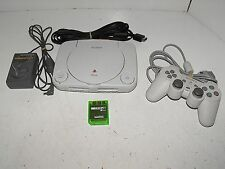 Sony Playstation 1 Slim Console with Controller & Memory Card Tested & Working