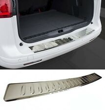 VW Touran MK1 1T1 1T2 Rear Bumper Protector Guard Trim Cover Steel Chrome Sill