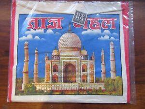 NEW Large Indian Taj Mahal Print Canvas Shopping Bag Wholefood Tote Hippie BNWT