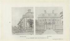 Antique Print - Thorpe Hall, Near Peterborough, 1656