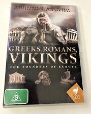 DVD Greeks, Romans, Vikings: the founders of Europe 1 disc ALL regions LIKE NEW