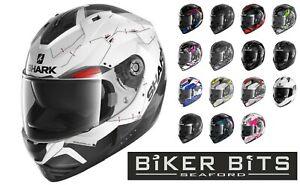 SHARK 1.2 RIDILL 2021 Motorbike/Scooter Internal Sun Visor Helmet Pinlock Ready