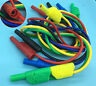4mm Banana Insulated Plug Stackable Test Lead Connector 0.5M/1M/2M 14AWG cables