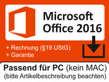 MS Microsoft Office 2016 Home and Student für 1PC Word Excel PowerPoint OneNote