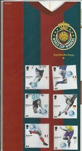 GB 2006 World Cup Football Championship Presentation Pack (No.384) FV£3.57 MNH