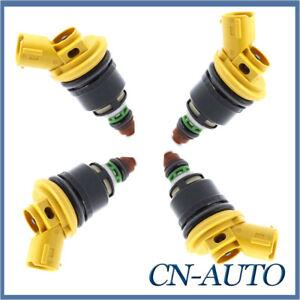 4Pcs Side Feed Fuel Injectors For Subaru WRX STi GC8 MY99 EJ255 EJ257 2.5L 03-06