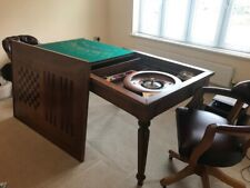 More details for del negro rectangular games table with 50cm roulette wheel