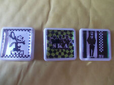 AND 3 MORE  SKA BADGES / PINS FREE POSTAGE IN THE UK