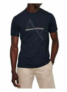 Armani Exchange A X Mens Navy Logo Crew T-Shirt Navy