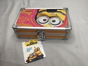 Minions Vaultz Locking Pencil Supply Box With Keys 5.5x8.25x2.5 in NEW