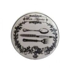 Möbelknopf Bon Appetit Knauf Besteck Keramik Griff
