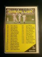 1961 Topps #98 2nd Series Checklist Unmarked (no creases) EX+
