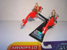 Star Wars Micro Machine Action Fleet Swoops (2) ,2 Pilots ,Stand,Cardboard